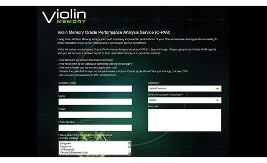 Performance Analysis Service from Violin Memory, Inc.