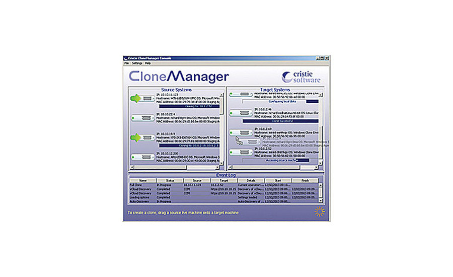 Cloning Software from Cristie Software