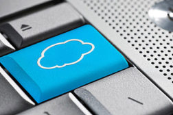 Computer Screen with Cloud