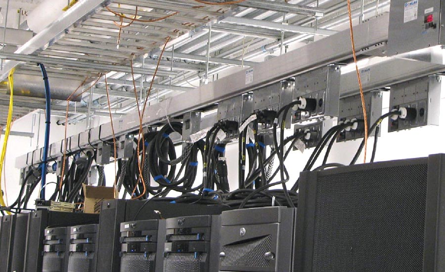 FIGURE 2. Power is fed to equipment cabinets via power distribution units (PDUs) seen here