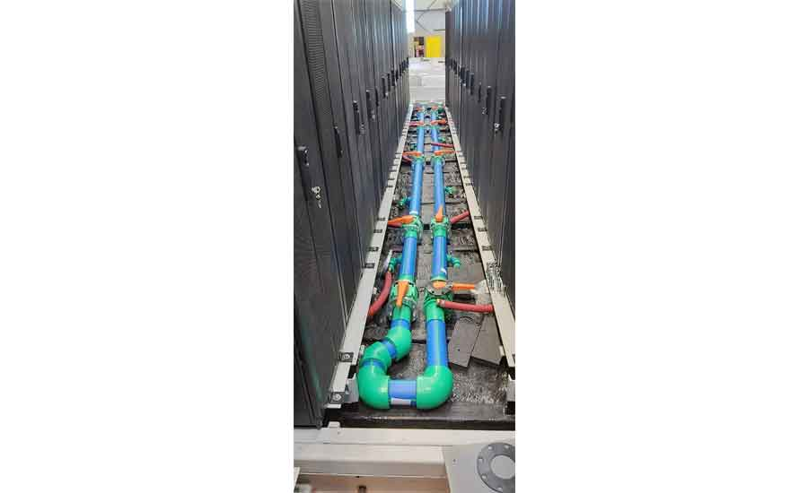 piping on modular data center
