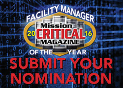 Mission Critical Facility Manager Of The Year 2016 Nomination Form