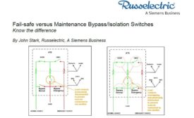 Fail-safe versus Maintenance Bypass/Isolation Switches